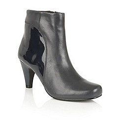 Lotus - Navy leather shiny 'Consuelo' ankle boots
