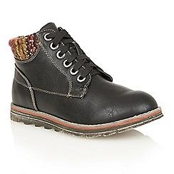Lotus - Black 'Akai' ankle boots