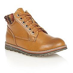 Lotus - Tan 'Akai' ankle boots