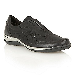 Lotus - Black matt 'Darna' trainers
