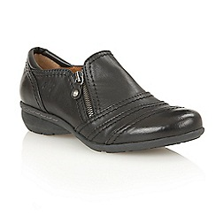 Lotus - Black matt 'Kaley' court shoes