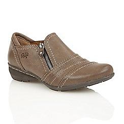 Lotus - Stone matt 'Kaley' court shoes