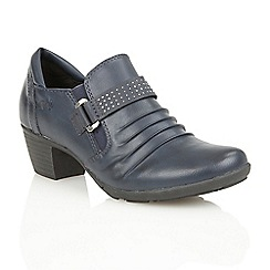Lotus - Navy matt 'Shannyn' womens shoes