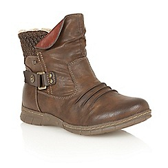 Lotus - Brown matt 'Namora' ankle boots