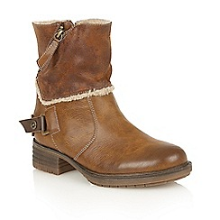 Lotus - Brown matt 'Doreen' ankle boots