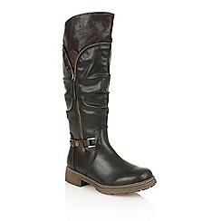 Lotus - Black matt 'Ingrid' boots