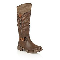 Lotus - Brown matt 'Ingrid' boots