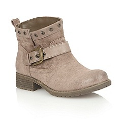 Lotus - Natural microfibre 'Tayvonne' ankle boots