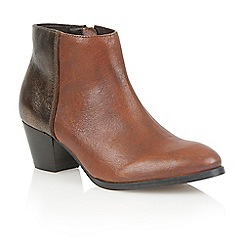 Lotus - Tan bronze leather 'Curran' ankle boots