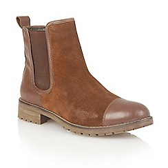 Lotus - Tan leather 'Jessalyn' ankle boots