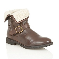 Lotus - Brown leather 'Annabeth' ankle boots