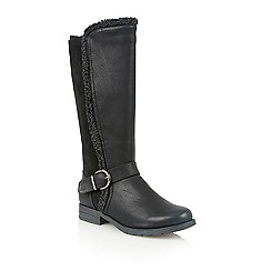 Lotus - Black matt 'Galilea' boots