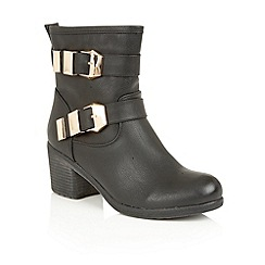 Lotus - Black 'Keely' ankle boots