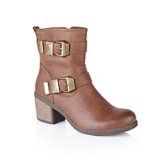 Lotus - Tan 'Keely' ankle boots