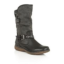 Lotus - Black 'Hilarie' mid calf boots