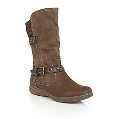 Lotus - Brown 'Hilarie' mid calf boots