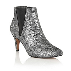 Lotus - Metallics 'Lore' animal print ankle boots