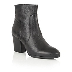 Lotus - Black leather 'Verbena' ankle boots