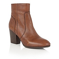 Lotus - Tan leather 'Verbena' ankle boots