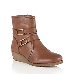 Lotus - Tan leather 'Loradi' ankle boots