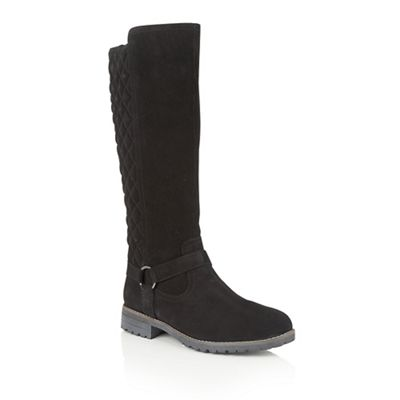lotus black suede bayberry knee high boots debenhams