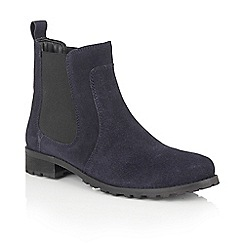 Lotus - Blue suede 'Nydia' ankle boots