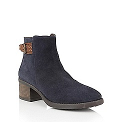 Lotus - Blue suede 'Alder' ankle boots