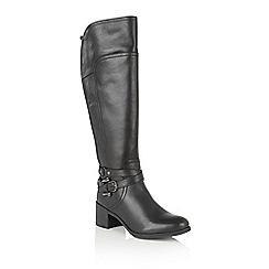 Lotus - Black leather 'Kennedia' knee high boots