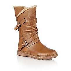 Lotus - Tan leather 'Jolanda' calf boots