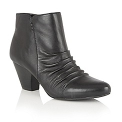 Lotus - Black leather 'Ilara' zip up ankle boots