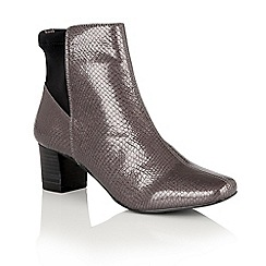 Lotus - Metallics 'Swallow' animal print ankle boots