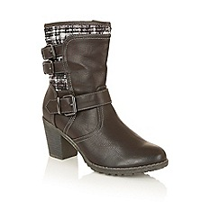 Lotus - Black 'Hedera' calf boots