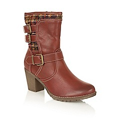 Lotus - Red 'Hedera' calf boots