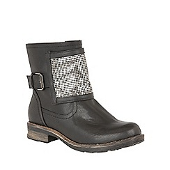 Lotus - Black 'Bartek' ankle boots