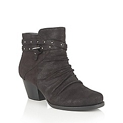 Lotus - Black 'Philox' zip up ankle boots