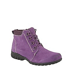 Lotus - Purple suede 'Santana' lace up ankle boots