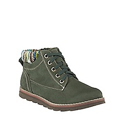 Lotus - Green 'Sequoia' lace up ankle boots