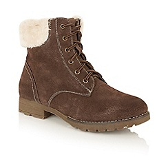 Lotus - Brown leather 'Vardy' lace up ankle boots