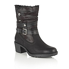 Lotus - Black Relife 'Mallory' calf boots