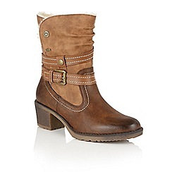 Lotus - Brown Relife 'Mallory' calf boots