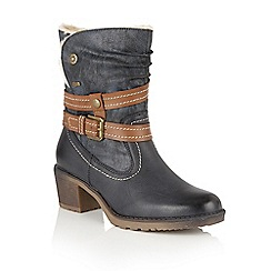 Lotus - Blue Relife 'Mallory' calf boots