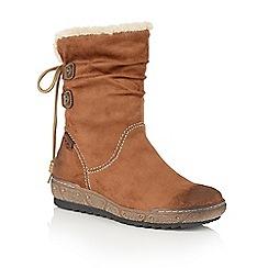 Lotus - Tan Relife 'Modane' calf boots