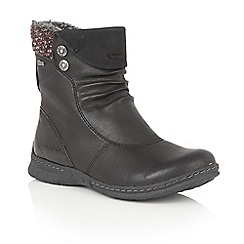 Lotus - Black Relife 'Ruka' ankle boots
