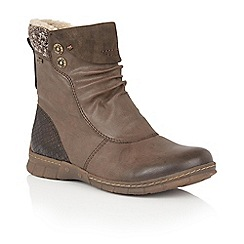 Lotus - Brown 'Ruka' ankle boots