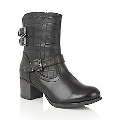 Lotus - Black 'Nannaki' ankle boots