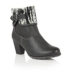 Lotus - Black 'Zalea' ankle boots