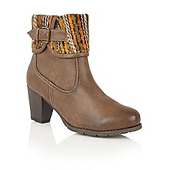 Lotus - Brown 'Zalea' ankle boots