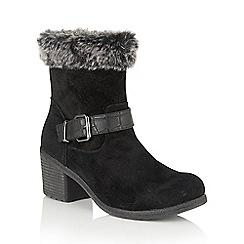 Lotus - Black suede 'Rinda' calf boots