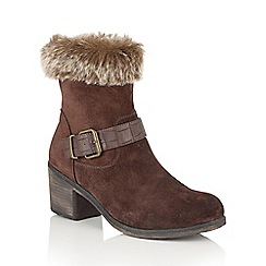 Lotus - Brown suede 'Rinda' calf boots