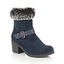 Lotus - Blue suede 'Rinda' calf boots